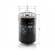 W1150/2, Oil Filter, Mann & Hummel