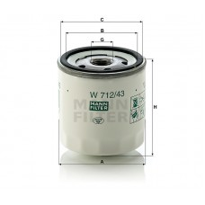 W712/43, Oil Filter, Mann & Hummel