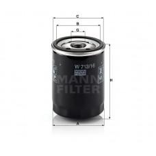 W713/16, Oil Filter, Mann & Hummel
