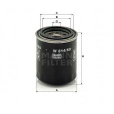 W814/80, Oil Filter, Mann & Hummel