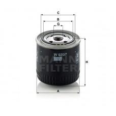 W920/7, Oil Filter, Mann & Hummel