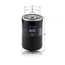W940/25, Oil Filter, Mann & Hummel