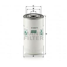 W950/13, Hydraulic Transmission Filter, Oil Filter, Mann & Hummel